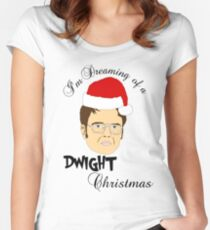 Dwight Christmas  Women's Fitted Scoop T-Shirt