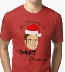 Dwight Christmas  Tri-blend T-Shirt