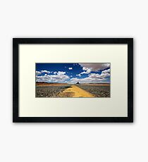 Blue skies are coming Framed Print