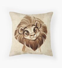 Doodles by David Kawena - Lion Throw Pillow