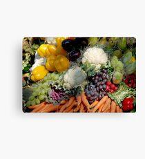 Variaty of vegetables Canvas Print