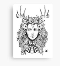Horned Goddess by Juliana Loomer Canvas Print