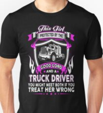 This Girl Protected By A Truck Driver Unisex T-Shirt