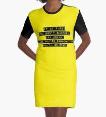 Parachuting Success Graphic T-Shirt Dress