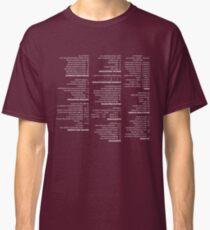 RegEx Cheat Sheet - Linux Geek Humor Classic T-Shirt