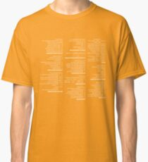 RegEx Cheat Sheet - Linux Geek Humor Classic T-Shirt