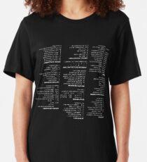 RegEx Cheat Sheet - Linux Geek Humor Slim Fit T-Shirt