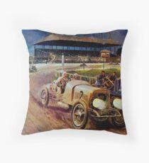 ASTOR CUP; Vintage Grand Prix Auto Racing Print Throw Pillow