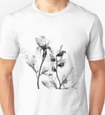 X-Ray Flowers Unisex T-Shirt
