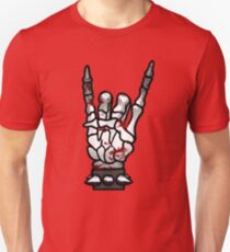 HEAVY METAL HAND SIGN - bloody Unisex T-Shirt