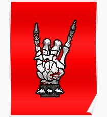 HEAVY METAL HAND SIGN - bloody Poster