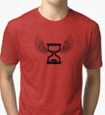 """""""Time Flys By"""" Angel and Wings T Shirt Tri-blend T-Shirt"""