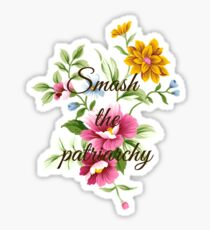 Smash the Patriarchy Floral Sticker