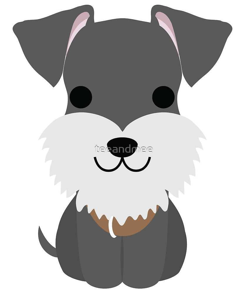 Schnauzer Dog Emoji Happy Smiling Face by teeandmee