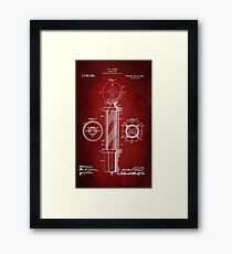 Barber Pole Patent 1916 Framed Print