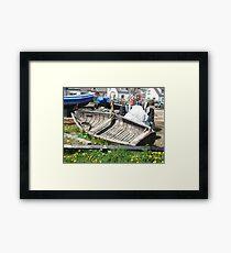Boat wreck Cullercoats Framed Print