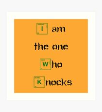 i am the one who knocks - orang - Bodbeli Art Print