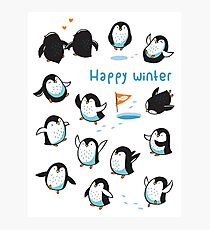 Arctic Penguins Photographic Print