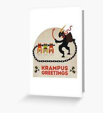 Krampus Greetings Greeting Card