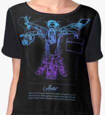 Vitruvian Artist - Blue and Black Series Chiffon Top