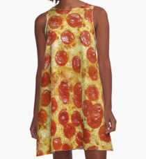 Pizza A-Linien Kleid