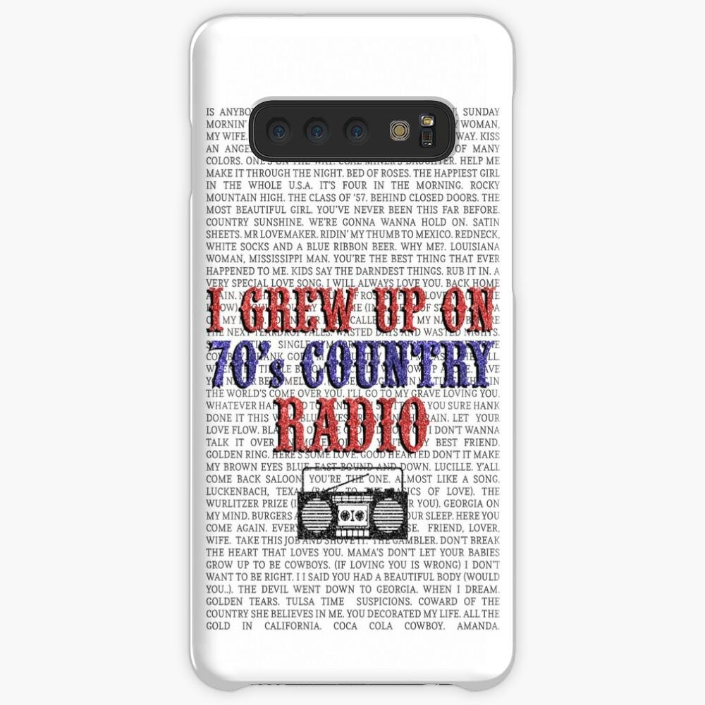Ich wuchs auf dem Country Radio von 70 auf (weiße Telefonhülle) Hüllen & Klebefolien für Samsung Galaxy