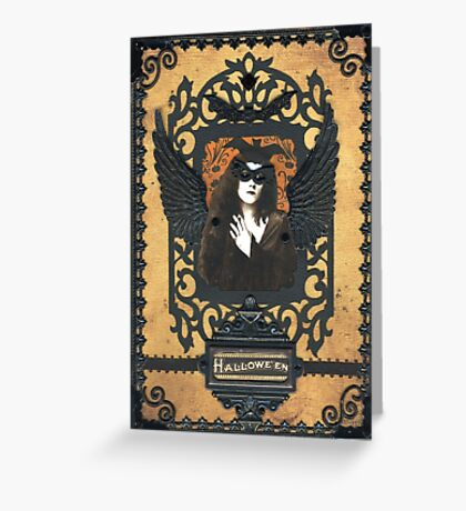 Gothic Masquerade Greeting Card