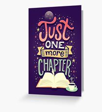 One more chapter Greeting Card