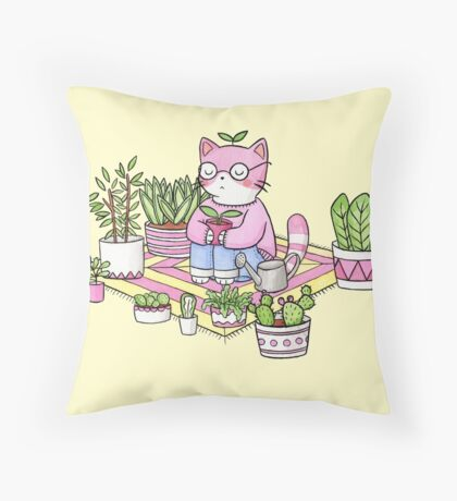Cacti Meditation Throw Pillow
