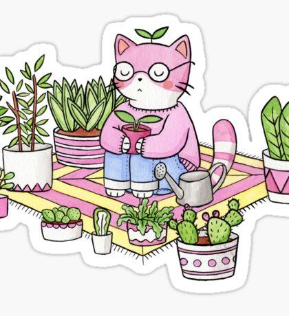 Cacti Meditation Sticker