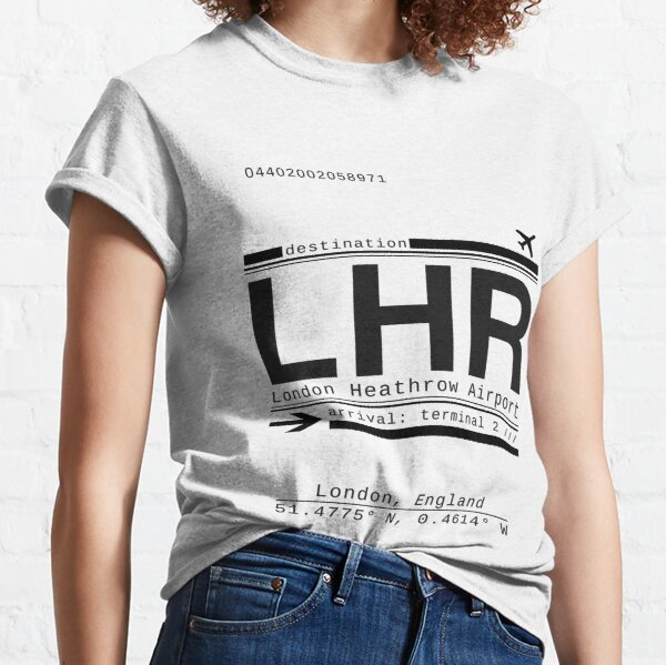 LHR London Heathrow Airport Call Letters Classic T-Shirt