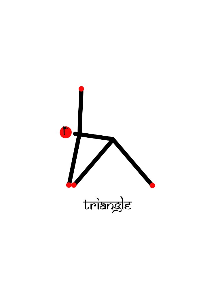 Stick Figure Of Triangle Yoga Pose With Sanskrit Kids T Shirt By Mindful Designs Redbubble