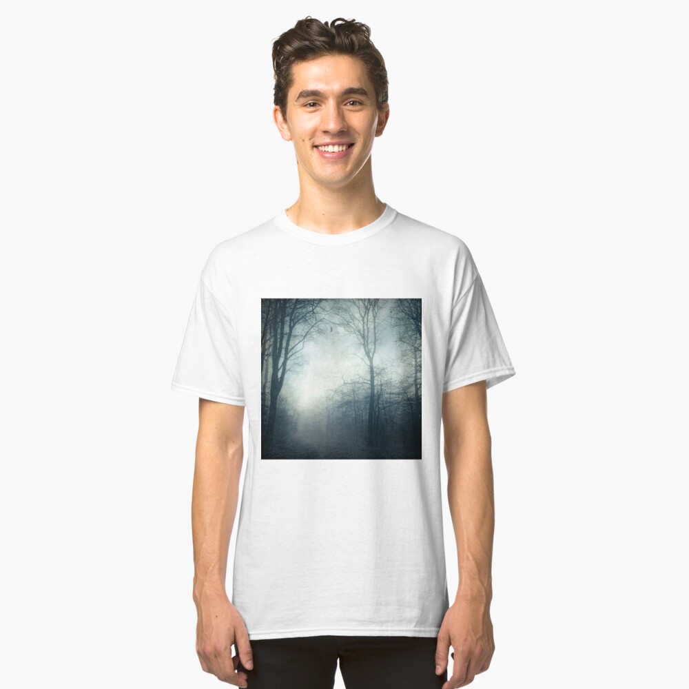 Dark Paths - Misty Forest on a November day Classic T-Shirt