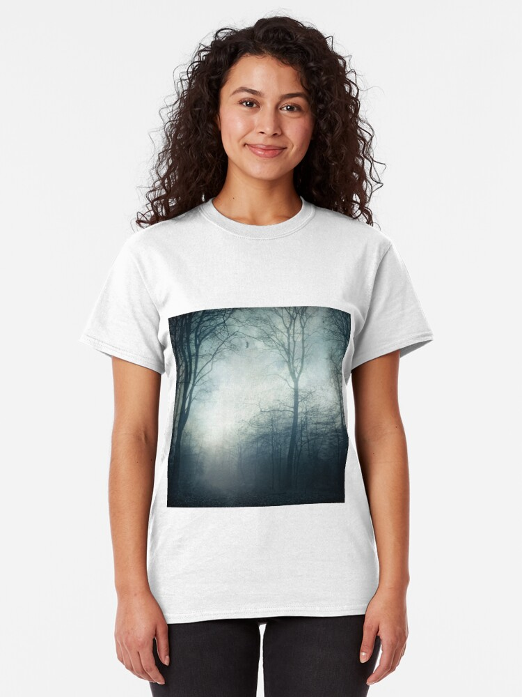 Alternate view of Dark Paths - Misty Forest on a November day Classic T-Shirt