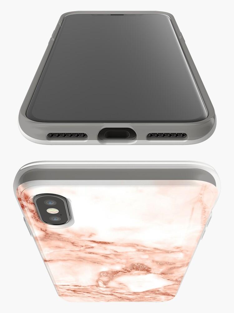 Vista alternativa de Funda y vinilo para iPhone Caja de la cubierta del teléfono de la textura de mármol rosa oro
