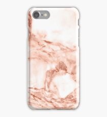Rose gold marble texture phone cover case iPhone Case/Skin