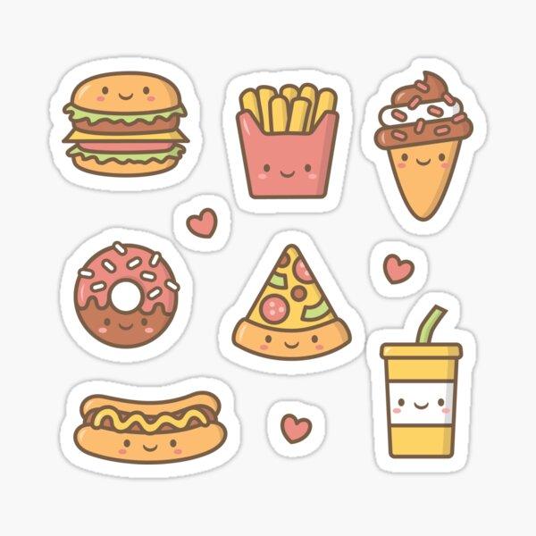 Kawaii Love Junk Food Doodles Sticker