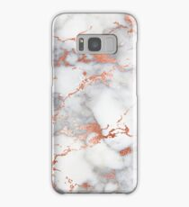 Marble with rose gold streaks phone case cover Samsung Galaxy Case/Skin