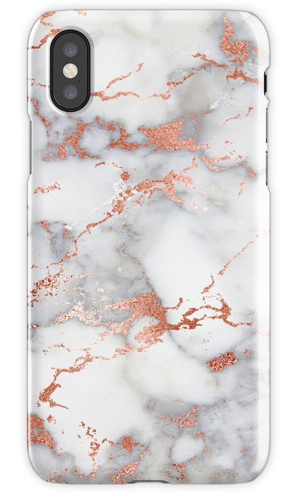 Quot Marble With Rose Gold Streaks Phone Case Cover Quot Iphone
