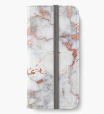 Marble with rose gold streaks phone case cover iPhone Wallet/Case/Skin
