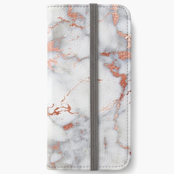 Marble with rose gold streaks phone case cover iPhone Wallet