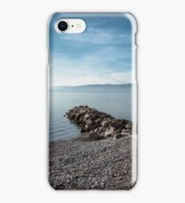 Sea at sunset with rocks iPhone Case/Skin