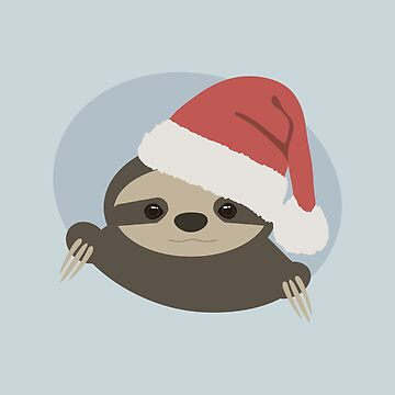 Christmas sloth by grungecore