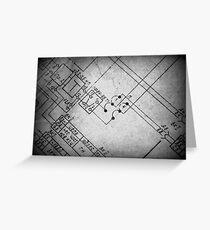 Blueprint Greeting Card
