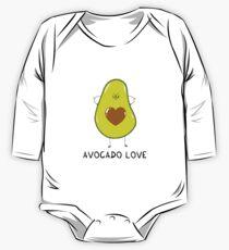 Avocado Love Long Sleeve Baby One-Piece