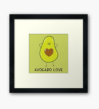 Avocado Love Framed Print