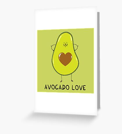 Avocado Love Greeting Card