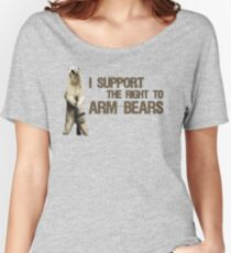I Support the Right to Arm Bears, Polar Bears Women's Relaxed Fit T-Shirt
