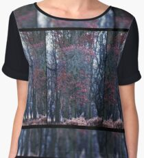 Faerie Trees ~ Fairy Trees With Inner Border  Women's Chiffon Top