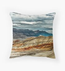 Painted Lanscape Throw Pillow
